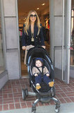 Rachel Zoe flashed a smile as she gave Skyler Berman a push.