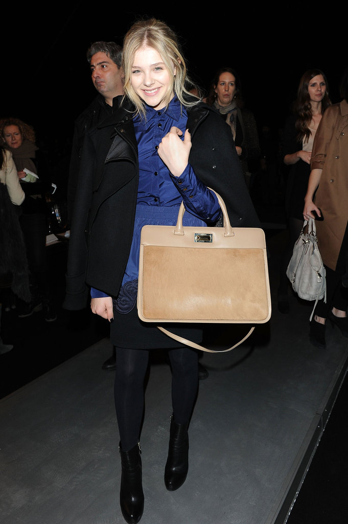 We swooned over Chloë Moretz's sleek Max Mara bag.