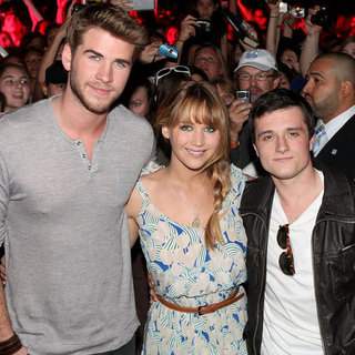 Jennifer Lawrence, Liam Hemsworth, Josh Hutcherson Pictures