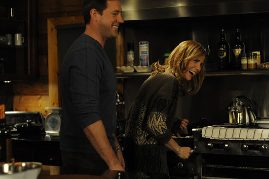 Edward Burns and Kristen Wiig in Friends With Kids. Photo courtesy of Roadside Attractions