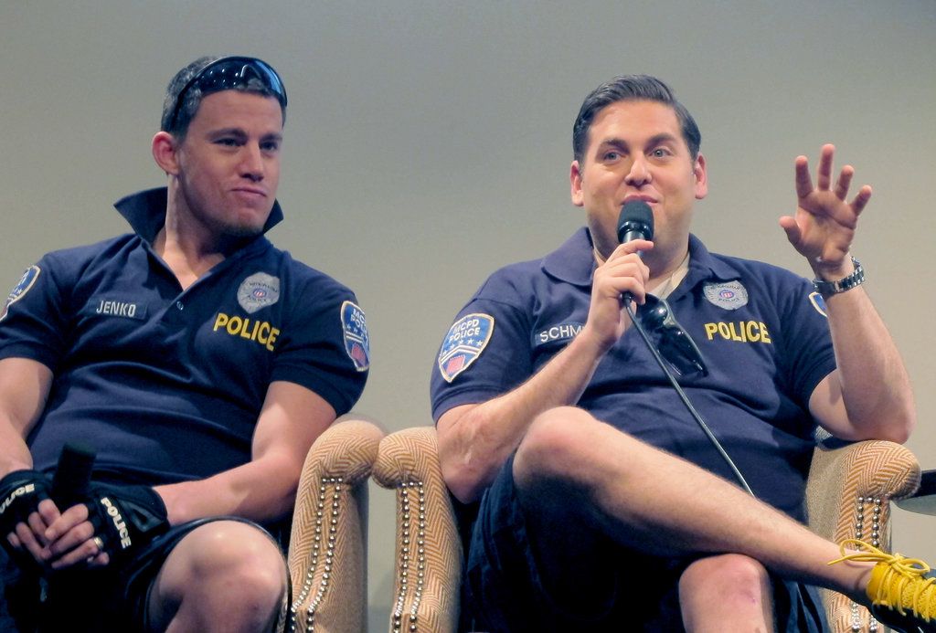 Chaning Tatum and Jonah Hill talked to press in NYC.