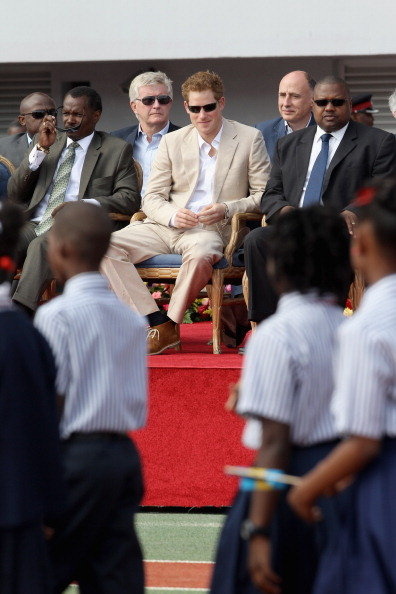 Prince Harry at an event in the Bahamas.