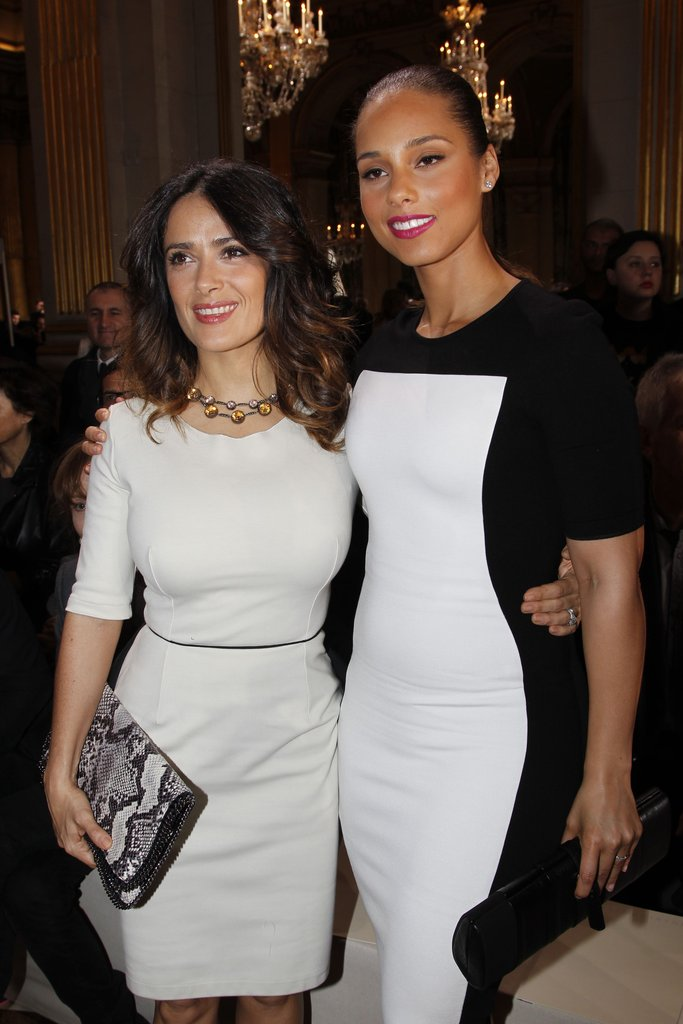 Salma Hayek and Alicia Keys went to Paris Fashion Week.