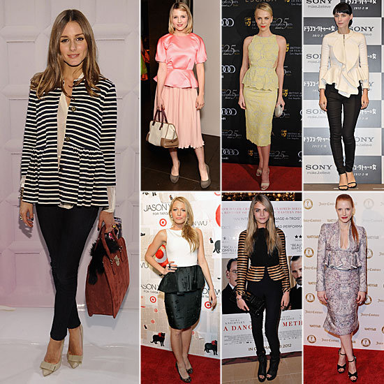 Celebrities Wearing Peplum Spring 2012