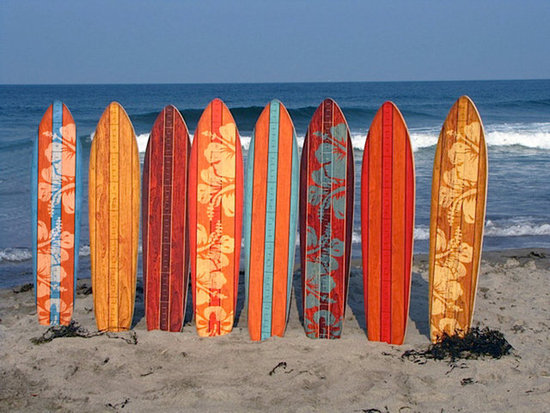 Headwaters Studio Vintage Surfboard Wooden Growth Charts