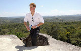 Prince Harry visited Xunantunich Mayan temple in Belize this past Saturday.