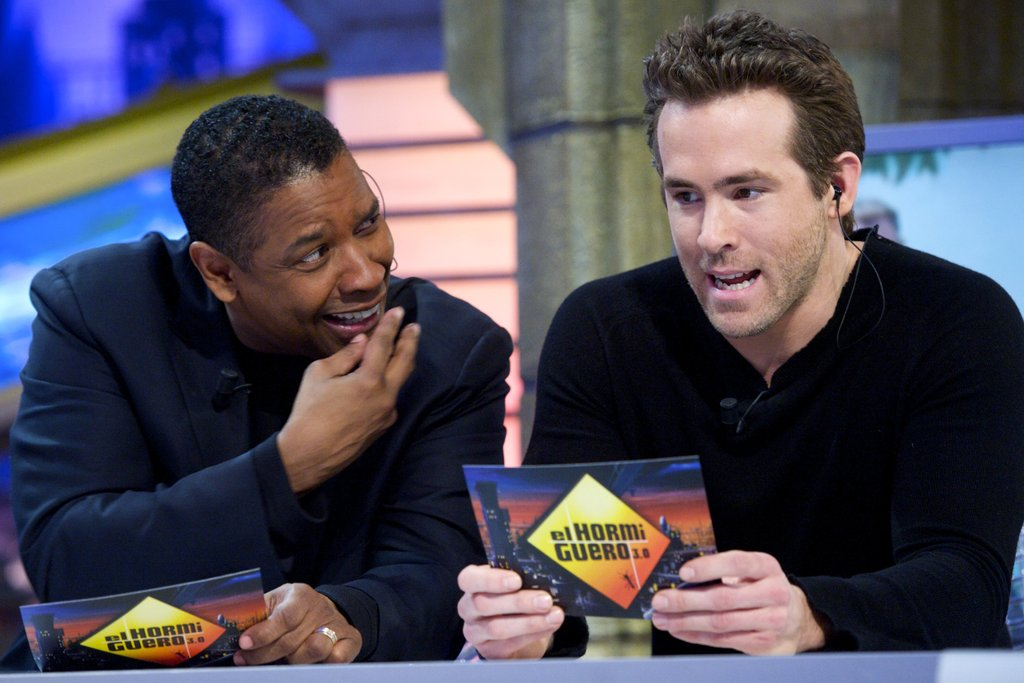Denzel Washington and Ryan Reynolds
