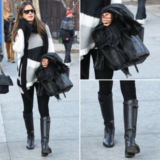 Alessandra Ambrosio in NYC March 6, 2012