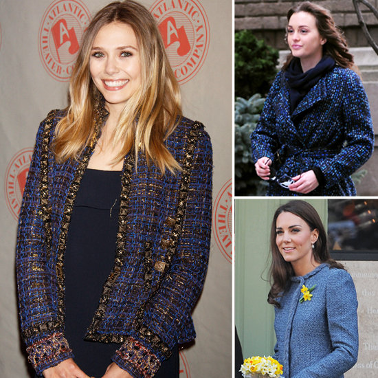 Kate Middleton, Elizabeth Olsen, Leighton Meester In Blue Tweed