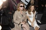 Sarah Jessica Parker sat next to Catherine Deneuve at Louis Vuitton.