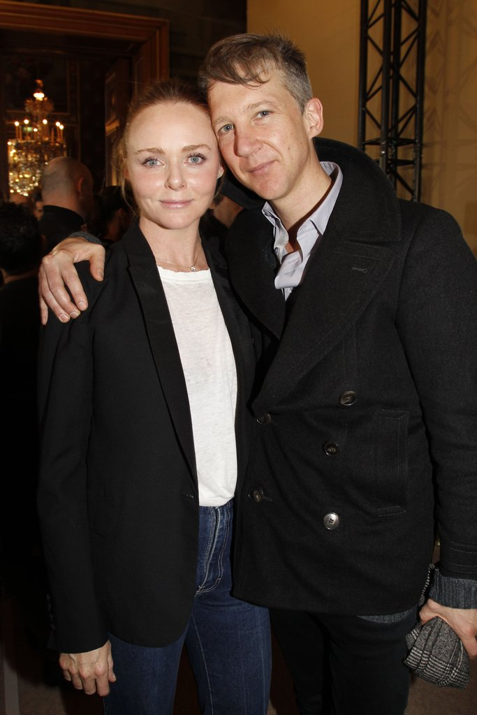 Jefferson Hack greeted Stella McCartney after her show.