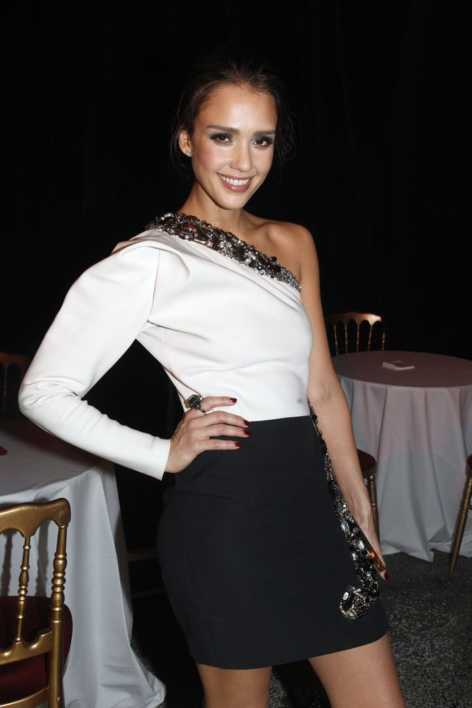 Jessica Alba checked out Lanvin in March 2012.