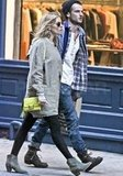 Pregnant Sienna Miller with Tom Sturridge.