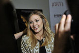 Elizabeth Olsen talked to press when premiering Silent House.