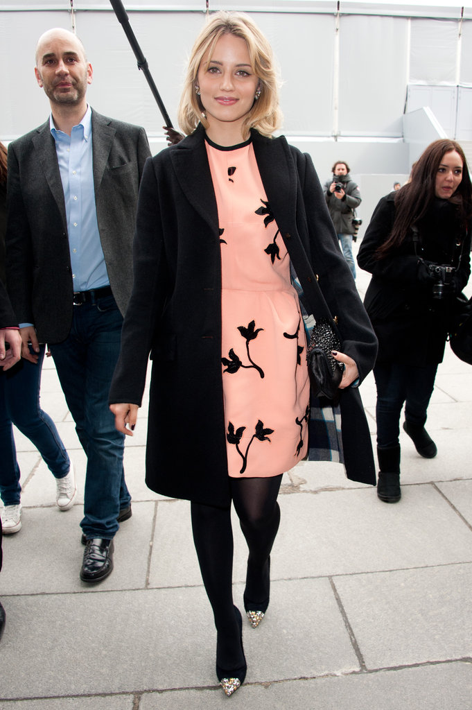 Dianna Agron attended Louis Vuitton in March 2012.