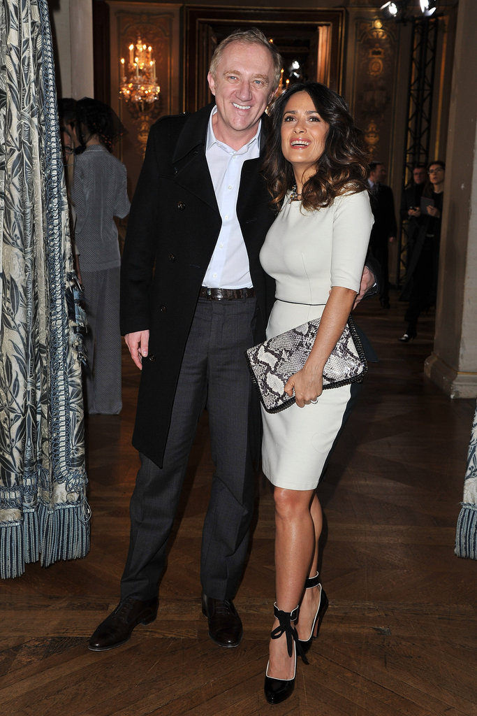Salma Hayek and Francois-Henri Pinault checked out Stella McCartney.