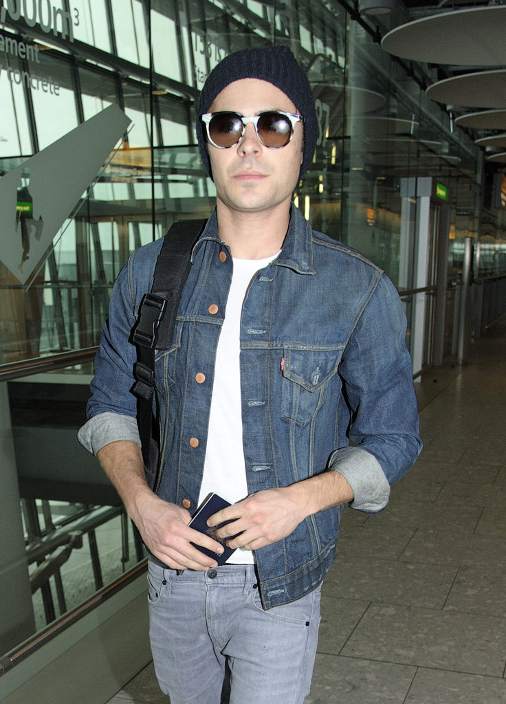 Zac Efron wearing sunglasses.