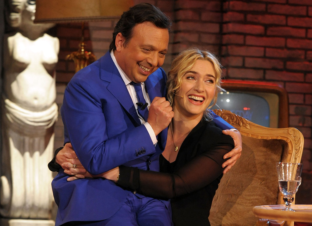 Kate Winslet Gets Caught Up in a Whirlwind of Fun on Italian TV