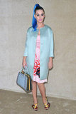 Katy Perry struck a pose at Miu Miu.