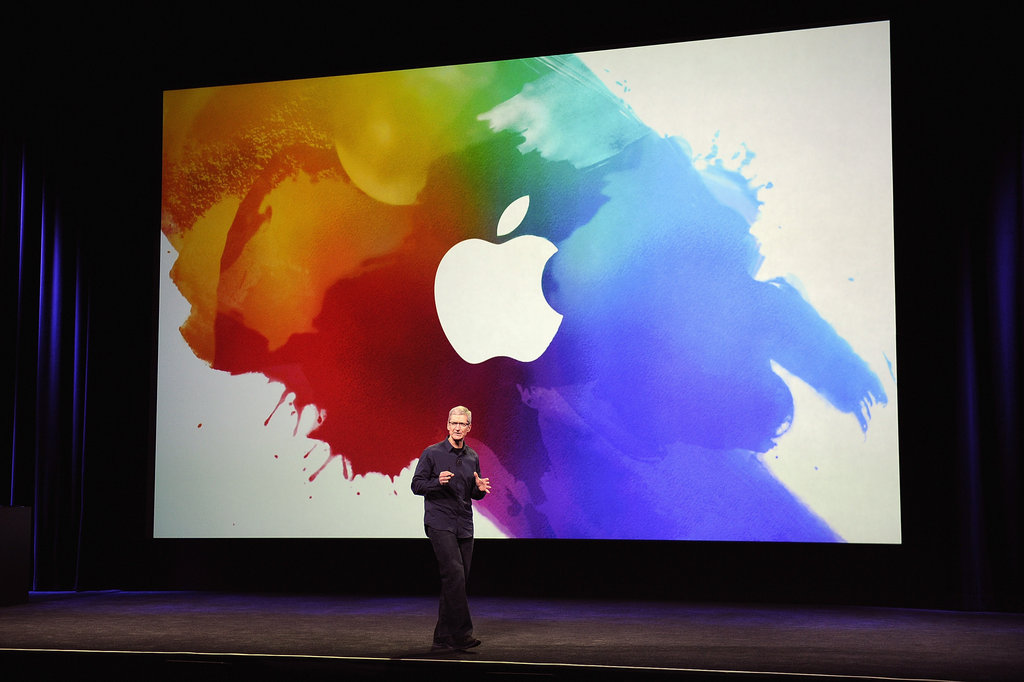 Tim Cook readies the crowd for the big iPad reveal.