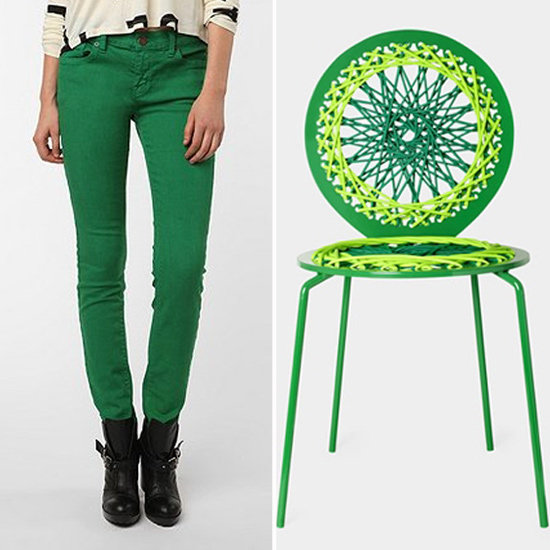I adore the kelly green of these BDG Mid-Rise Jeans ($58). Channel that perfect Spring shade with the Carnevale Studio MoMA Stretch Chair ($850), available exclusively at MoMA.