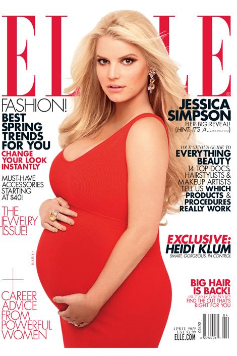 Jessica Simpson's Nude Elle Magazine