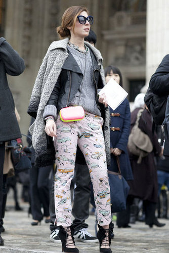 Paris Fashion Week Street Style Fall 2012