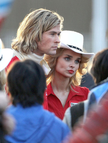 Chris Hemsworth plays a Formula 1 driver in Rush.