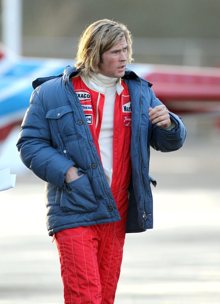 Chris Hemsworth stars in Ron Howards new film, Rush.