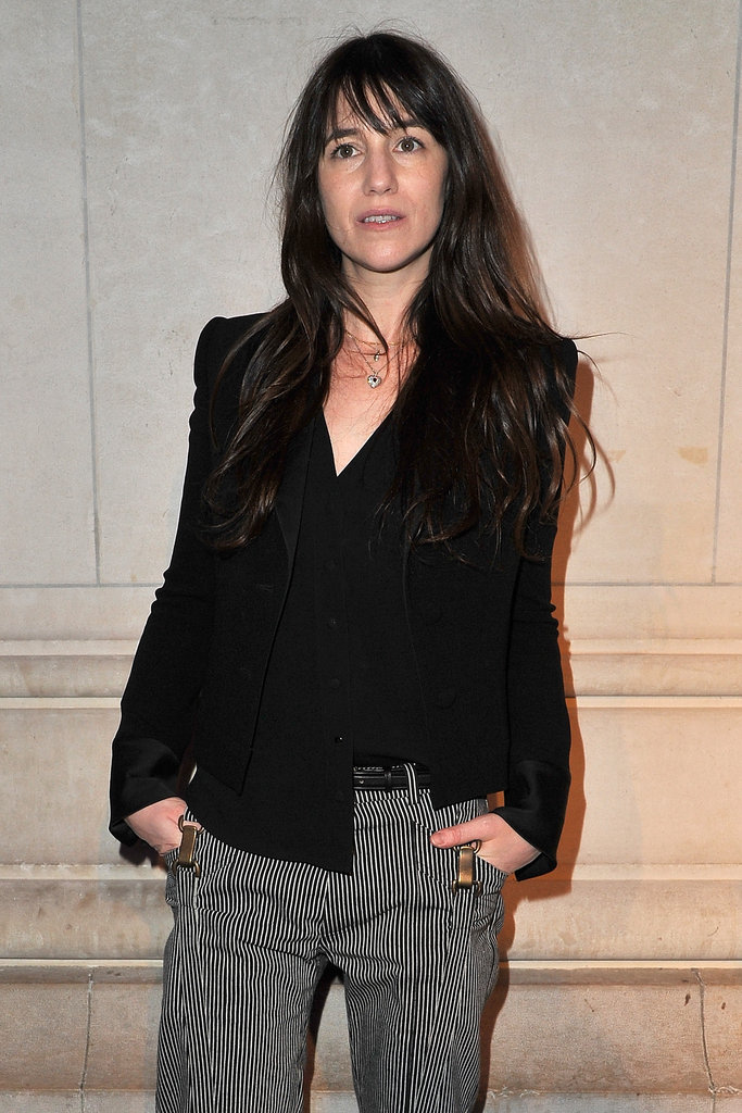 Charlotte Gainsbourg at the Louis Vuitton Marc Jacobs exhibit.