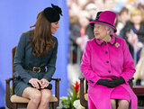Kate Middleton Helps the Queen Kick Off Day One of the Diamond Jubilee Tour