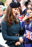 Kate Middleton said hello to people in Leicester.