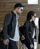 Robert Pattinson and Kristen Stewart flew out of Paris.