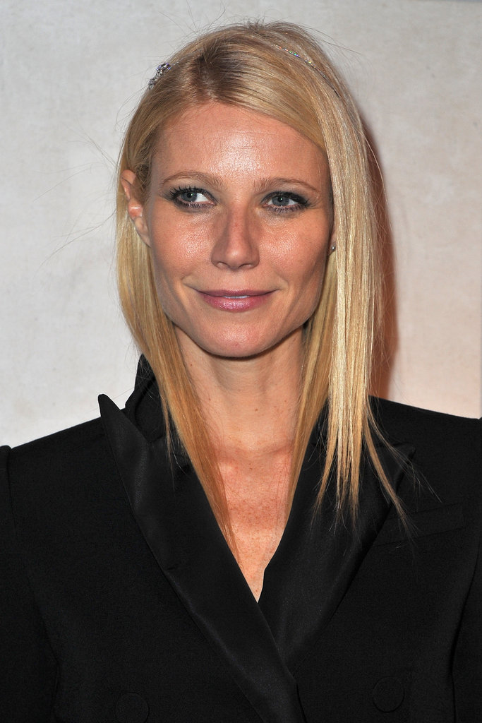 Gwyneth Paltrow celebrates the opening of Marc Jacob's Louis Vuitton Exhibit in Paris.