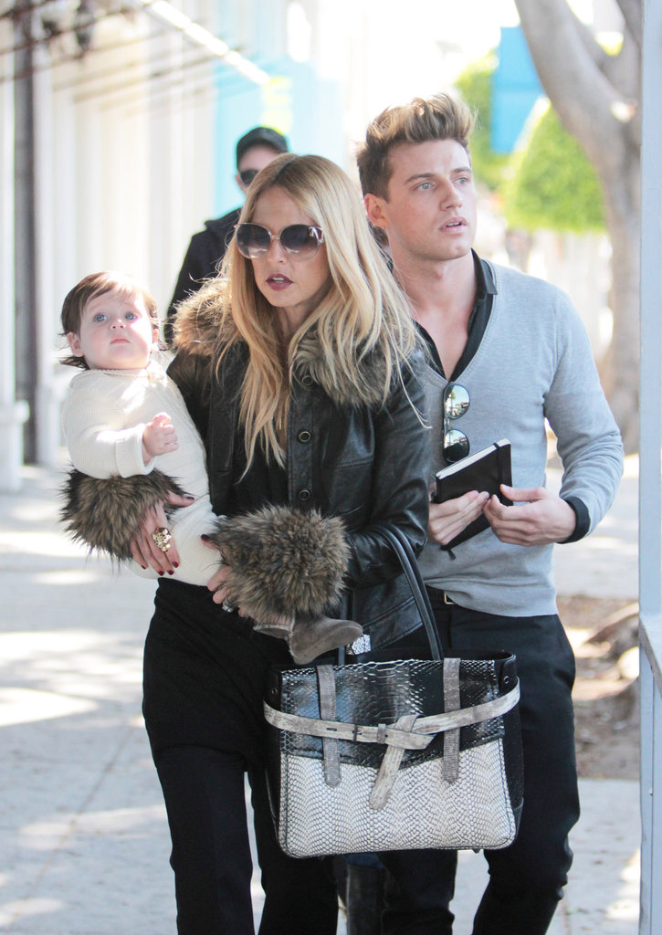 Rachel Zoe was joined by her assistant Jeremiah Brent.