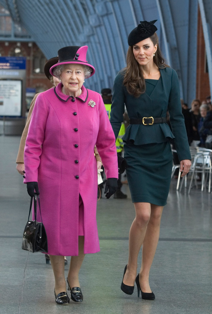 Kate Middleton and Queen Elizabeth together at St. Pancras station.