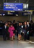 Kate Middleton, Queen Elizabeth, and Prince Philip walked through London's St. Pancras station.