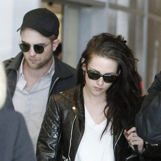 Robert Pattinson and Kristen Stewart Leaving Paris Pictures