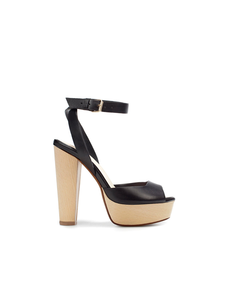 Zara Wood Sandal ($90)