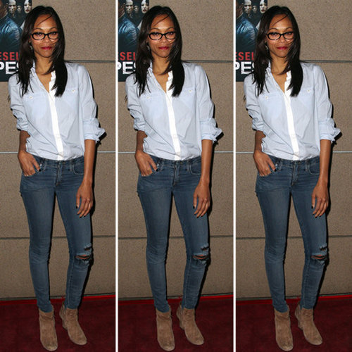 Zoe Saldana Oxford Shirt