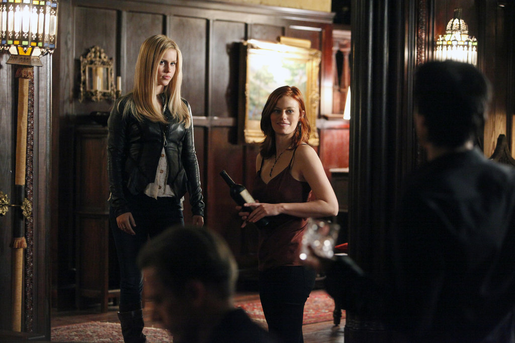 Claire Holt as Rebekah and Cassidy Freeman as Sage in The Vampire Diaries. Photo courtesy of The CW