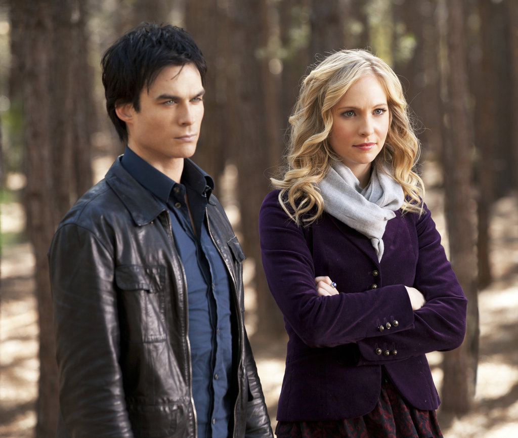 Ian Somerhalder as Damon and Candice Accola as Caroline in The Vampire Diaries. Photo courtesy of The CW