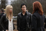 Claire Holt as Rebekah, Ian Somerhalder as Damon and Cassidy Freeman as Sage in The Vampire Diaries. Photo courtesy of The CW