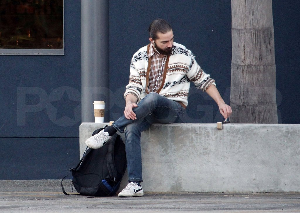 Shia LaBeouf rocked a hairy new look.
