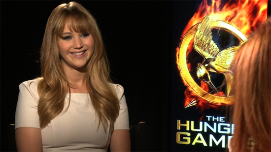 "Jennifer Lawrence on Josh Hutcherson's Rating of Her Kissing Skills and Hunger Games ""Pressure"""