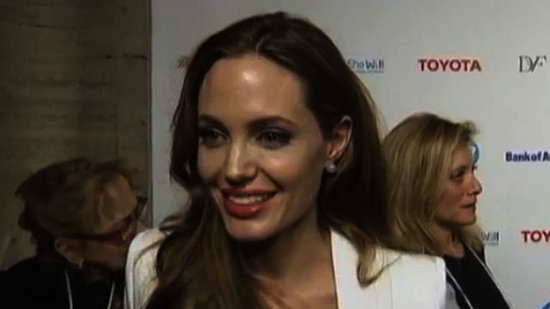 "Video: Angelina Jolie Says Shiloh, Zahara, and Vivienne Teach Her the ""Strength of Women"""