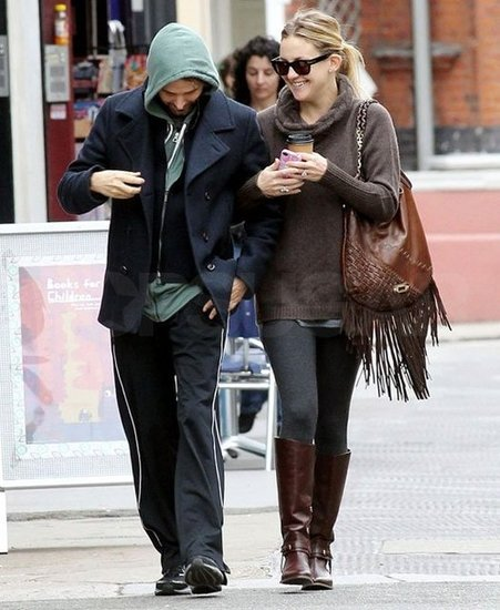 Kate Hudson and Matthew Bellamy Show Love on an Early Stroll
