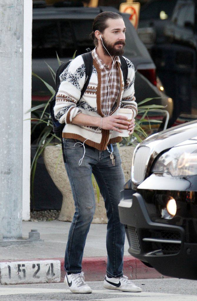 Shia LaBeouf rocked a ponytail in LA.