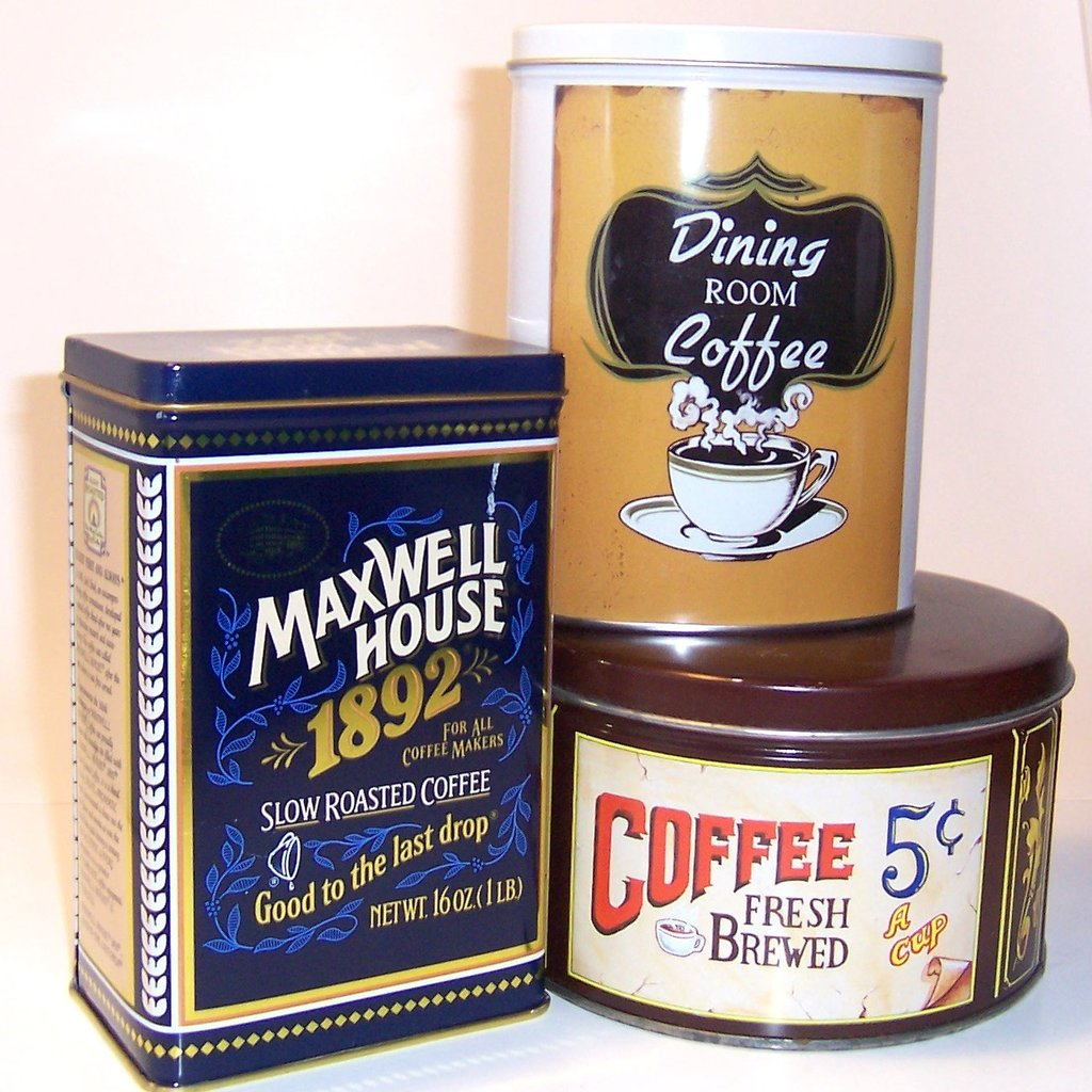 Vintage Coffee Tins