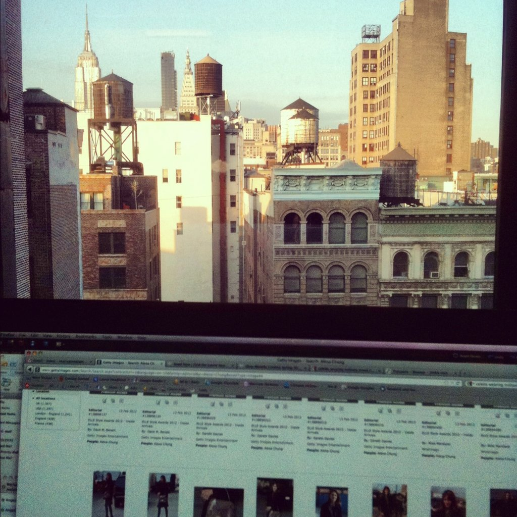 A glimpse into our workday — PFW + our office view.